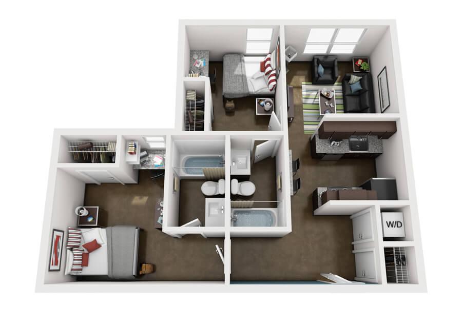 Westmar Student Lofts Floor Plan 2