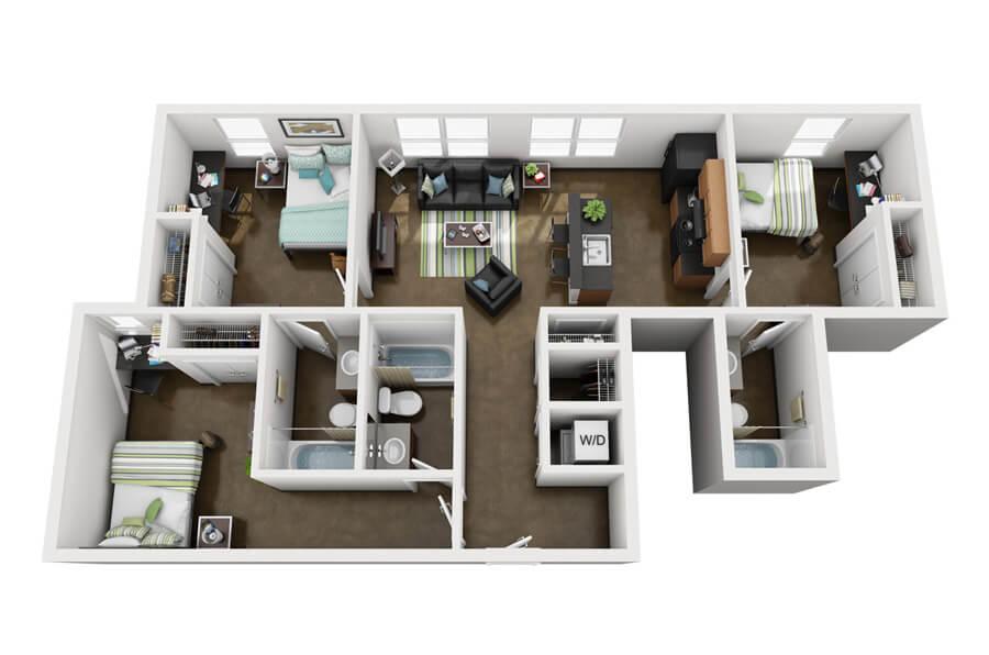 Westmar Student Lofts Floor Plan 5