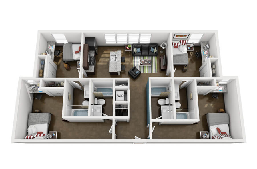 Westmar Student Lofts Floor Plan 3
